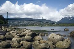 The Lion Gate Bridge (LiatNjoo) Tags: vancouver clouds bc stanleypark liongatebridge 3570mmf28 d700 bwnd106
