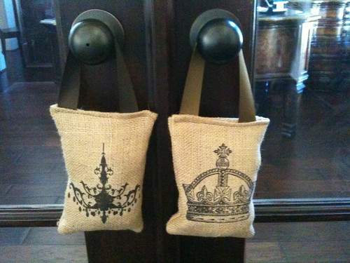 Scented burlap sachets from etsy