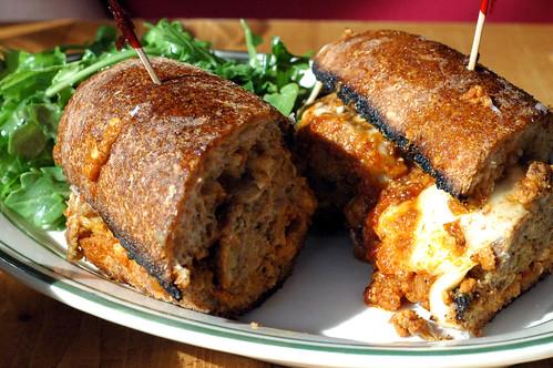 Beef meatball sandwich