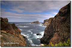 View Through The Gulch (Spence D) Tags: ocean cliff newfoundland rocky twillingate surff