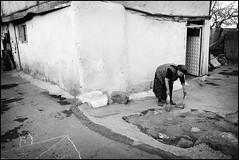 old ankara (Aine) Tags: street old blackandwhite woman turkey working ankara turkish