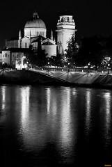 S. Giorgio (ciliuz) Tags: city bw italy church night river italia pentax fiume chiesa campanile verona cupola luci acqua riflessi soe notte citt notturno adige veneto k10d blackwhiteaward ciliuz