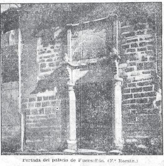Palacio de Fuensalida a comienzos del siglo XX. Fotografía de Pedro Román Martínez para el diario El Sol (12-4-1931)