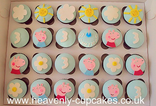 Peppa Pig Birthday Cupcakes-Nottingham