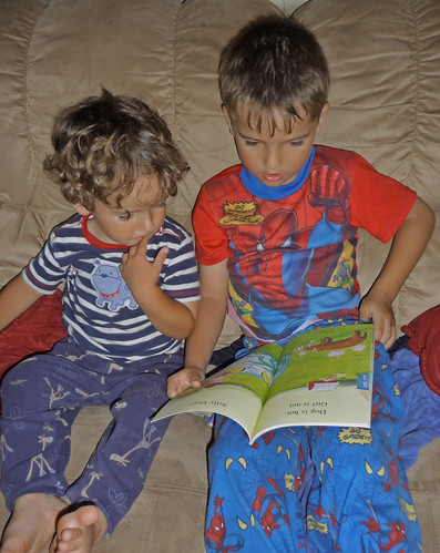 reading to brother