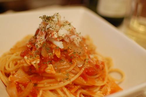 トマト蟹パスタ