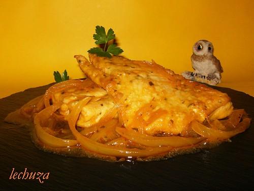 Castañeta encebollada-plato