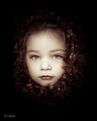 Portrait of a Girl (Rebecca812) Tags: portrait cute girl beautiful fairytale scarf children kid eyes child serious daughter naturallight m hazel platinumheartaward artofimages canon5dmarkii bestportraitsaoi elitechildimages elitegalleryaoi familygetty2010 rebecca812