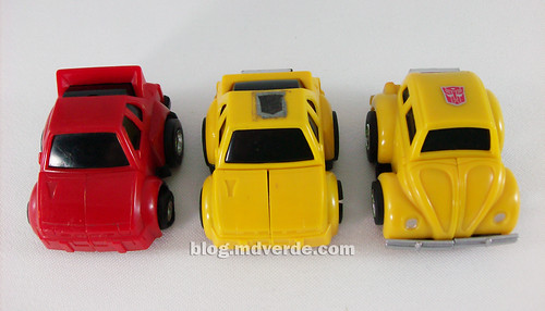 Transformers Hubcap G1 vs Bumblebee vs Cliffjumper - modo alterno