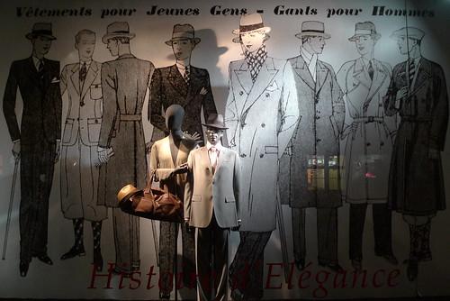 Vitrines histoire d'élégance - Printemps homme - Paris, mai 2010