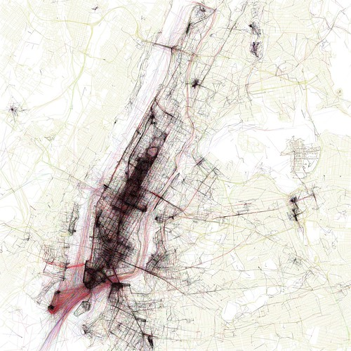 The Geotaggers' World Atlas #1: New York by Eric Fischer.