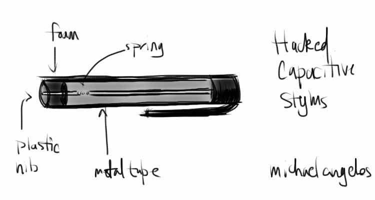 My hacked Pogo Sketch Stylus for the iPad