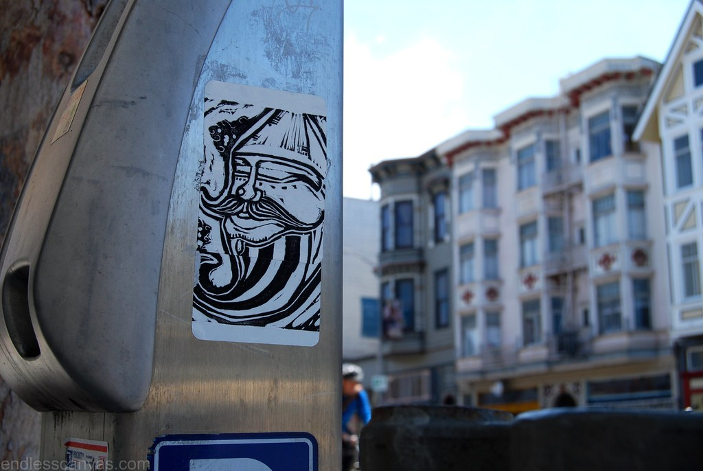 Street Art Sticker in San francisco, CA.