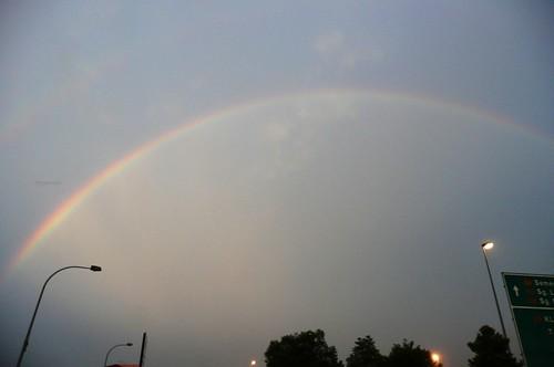 Rainbow citiscape