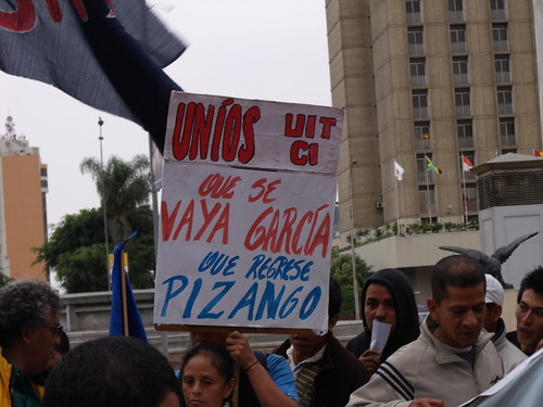 Que se vaya García, que regrese Pizango