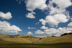 Found Water Under Clouds (flopper) Tags: california shadow sky water sanjose hills