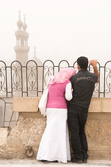 Love is in the air (ania.egypt) Tags: travel 2 holiday love couple para minaret egypt mosque story cairo destination wakacje egipt podr kair meczet milo
