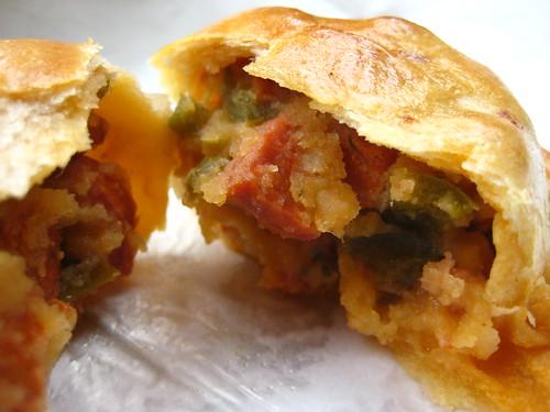 Inside Chorizo Empanada
