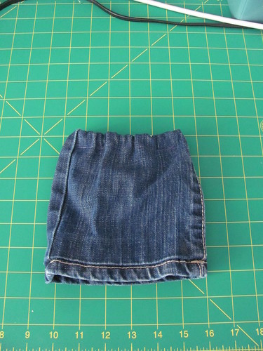 Jean-leg doll skirt