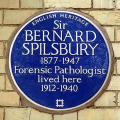 Photo of Bernard Spilsbury blue plaque
