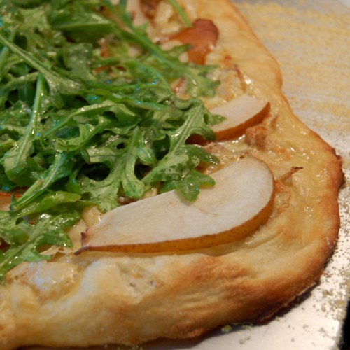 Pizza: Pear, Arugula, Walnut, Cambozola