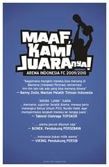 Arema Juara, oleh Ecko Luck Mans (Ongisnade.net) Tags: indonesia malang juara superliga arema aremania ligasuperindonesia aremaindonesia
