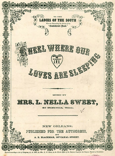 "1867-Historic American Sheet Music, ""Kneel where our loves are sleeping"", Music B-802, Duke University Rare Book, Manuscript, and Special Collections Library"