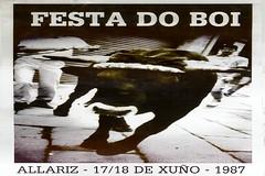 Allariz - 1987 - Festa do Boi - cartel