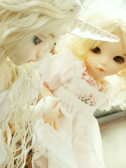 Nimbi & Ninette (Craia) Tags: doll leah bjd dollfie soom unicorn fairyland monthly gem teenie unicornio yosd beyla littlefee