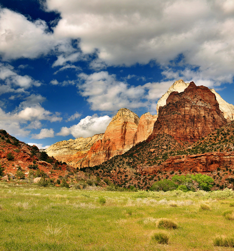 Mountains in zion composite vertorama 3 shots crop