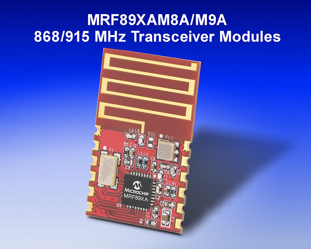 Microchips 868 amp 915 MHz Transceiver Modules by Microchip Technology