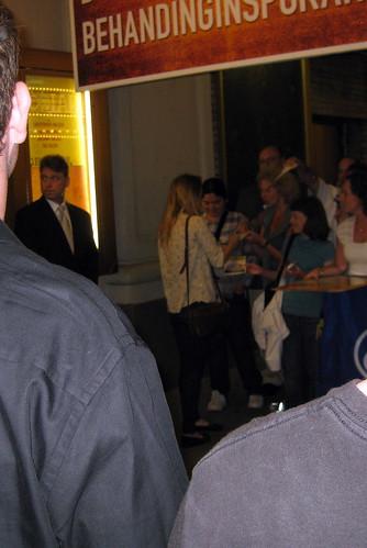zoe kazan wiki. Back of Zoe Kazan signing autographs