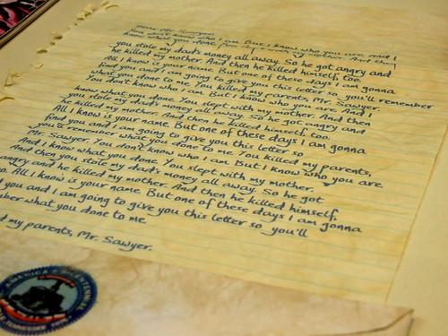 Sawyer's letter