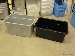 Comparing two plastic totes