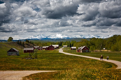 Living history of the ranching era (JoLoLog) Tags: clouds lorien baruranch albertafoothills theoldwest canonxsi ranchinginalberta baruranchnationalhistoricsite cowboyswayoflife
