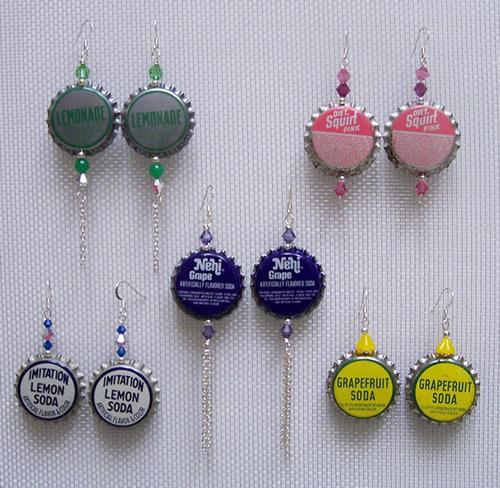 bottle cap earring DIY