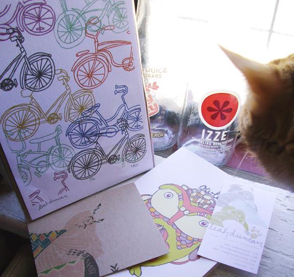 leah duncan bike print + a curious catt