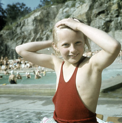 NMA.0031578 (Nordiska museet) Tags: summer girl swimming 1930s child sweden bathing nordiskamuseet