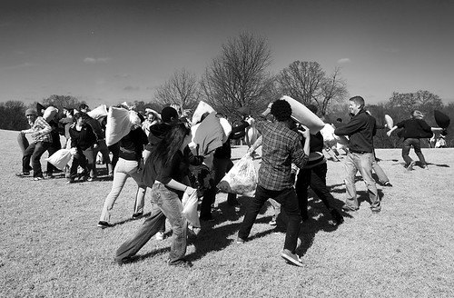 Flash Mob Pillow Fight