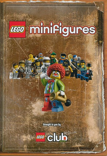 Collectible minifigures brochure cover