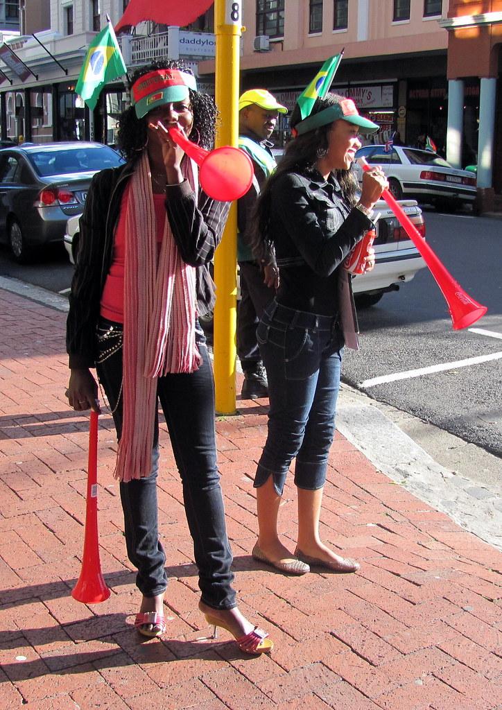 Mundial Sudáfrica fans cornetas