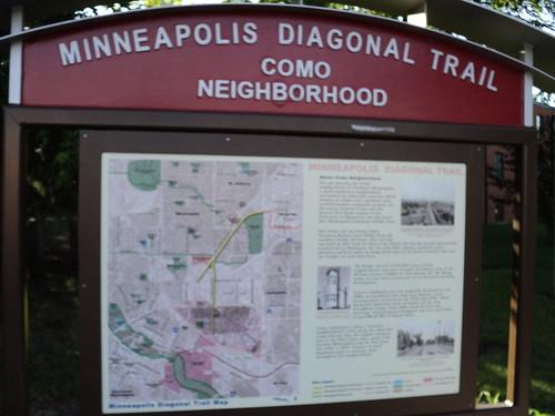Minneapolis Diagonal Trail Sign