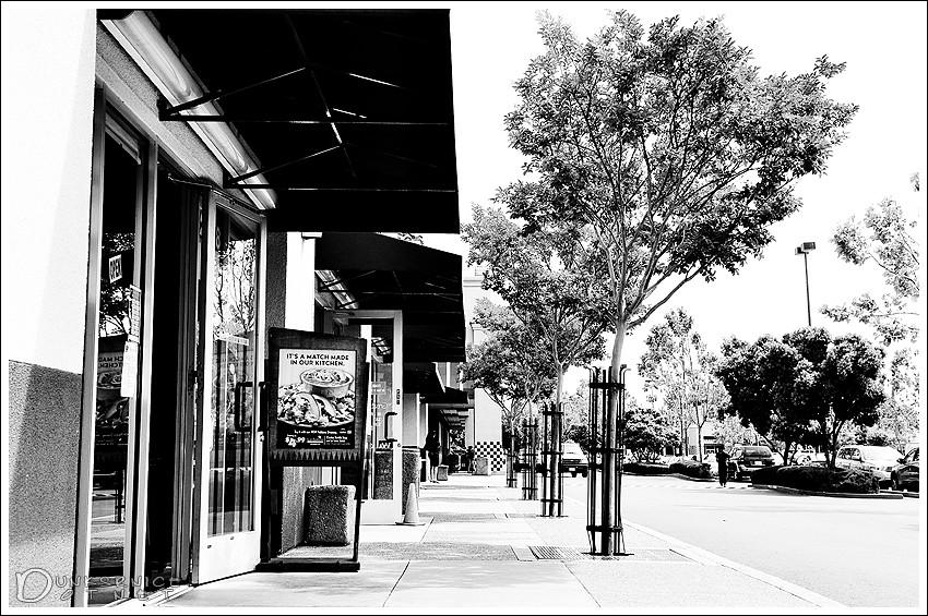 Union landing, CA B&W.