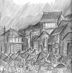 UMBRELLAS OF JAPAN: pencil sketch (roberthuffstutter) Tags: art beach japan vintage midwest memories expressionism impressionism americana venicebeach beatniks watercolors sketches umbrellas japaneseart picnik penandink wakingup oldandnew japanesedrawings assortedphotos greenwichvillage1960 japaneseillustrations huffstutter roberthuffstutter japanesepictures huffstuttersart umbrellasofjapan robertlhuffstutter blogaboutjapan sketchesofjapan robertsgallery originalsavailable journiestoandfrom assortedmixedmedium bobhuffstutter japanesesketches huffstuttersdrawings japaneseportfolio assortedjapanesedrawings
