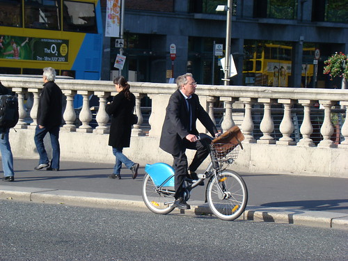 Classic DublinBikes: Suit and briefcase