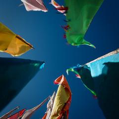 The wind (Gotama2.0) Tags: china mountain colors montagne trek asia pentax hiking couleurs flag prayer tibet asie sichuan chine prayerflag drapeaux priere the4elements k20d tagon drapeauxaprieres