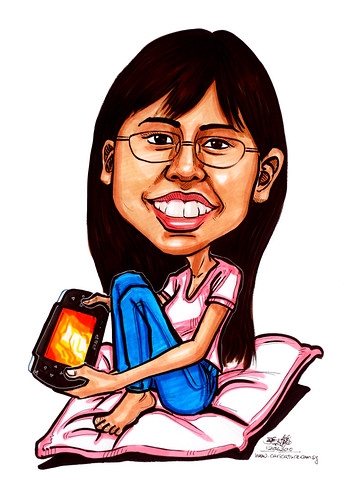Caricatures for NUS - gamer