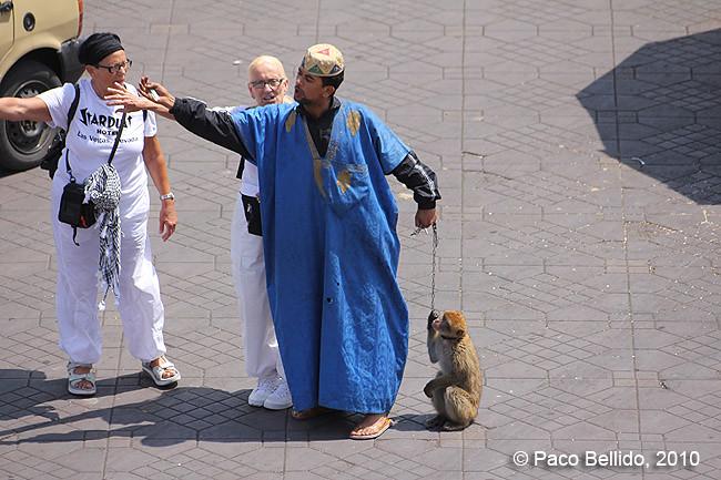 Amaestrador de monos. © Paco Bellido, 2010