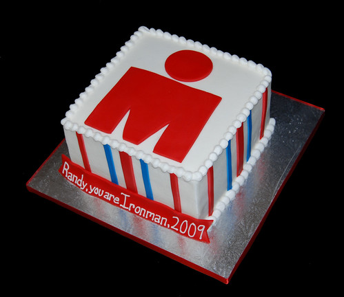 Ironman triathalon congratulations cake