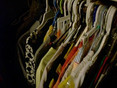 morehangers (kellytwoshoes) Tags: closet colorful clothes more shirts hangers